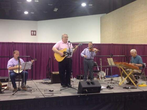 Don, Gary, Mark and Rob playing at the Cooperative Baptist Fellowship 2019