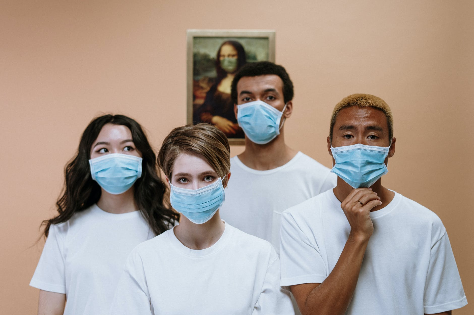 group of people wearing face mask